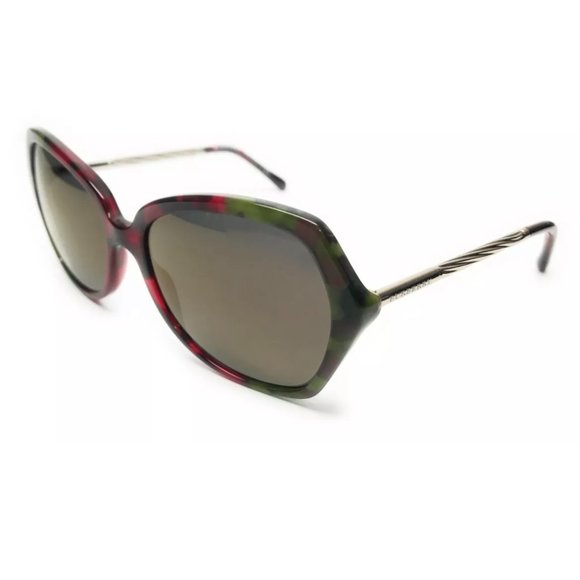 Burberry Women's Green and Gold Sunglasses!